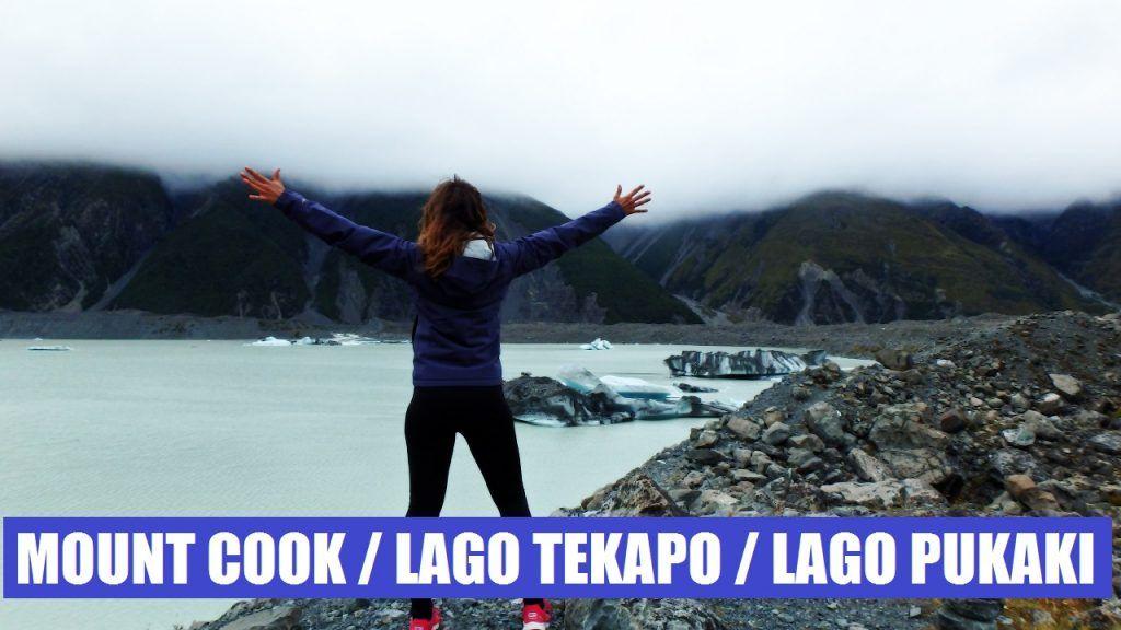 Monte Cook,Lago Tekapo y Lago Pukaki, Nueva Zelanda