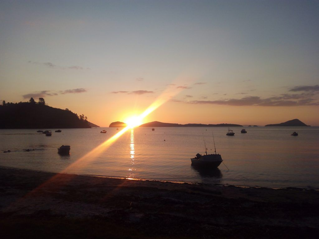Atardecer en Long Bay, NZ
